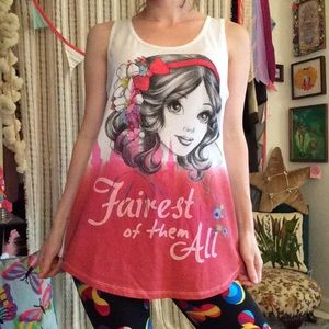 Disney Tops - Snow White Disney Princess Razor Back Tunic Tank